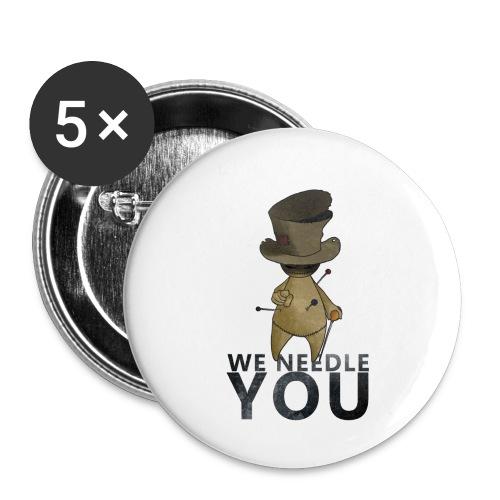 WE NEEDLE YOU - Lot de 5 petits badges (25 mm)