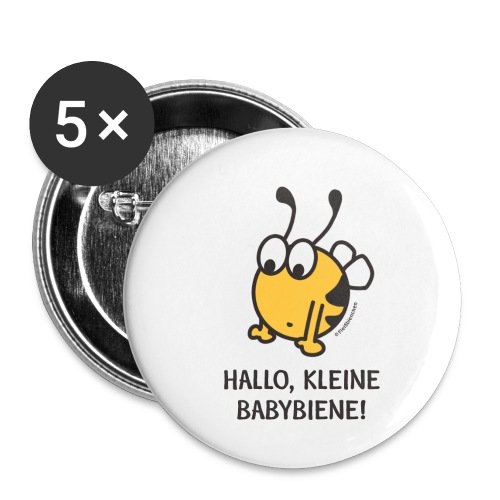 Hallo, kleine Babybiene! - Buttons klein 25 mm (5er Pack)