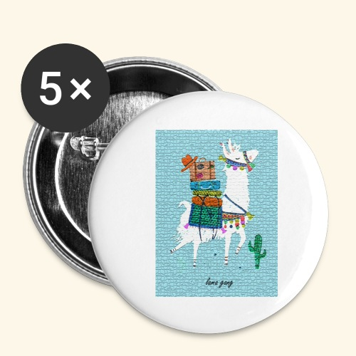 Lama Gang - Buttons klein 25 mm (5er Pack)