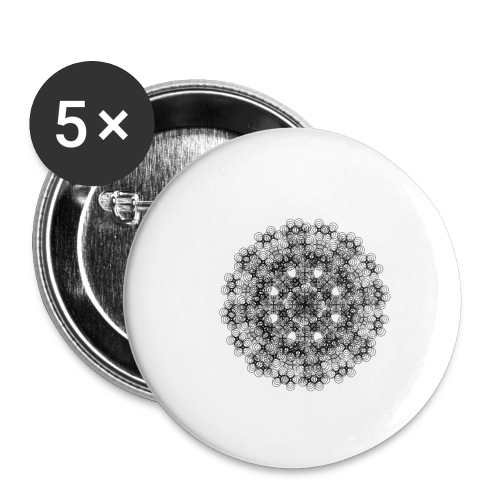 Flower mix - Buttons/Badges lille, 25 mm (5-pack)