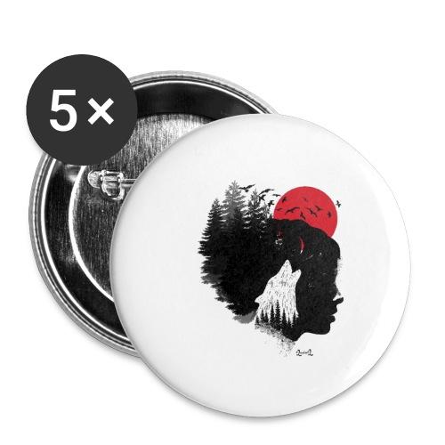 Donne che corrono coi lupi - Confezione da 5 spille piccole (25 mm)
