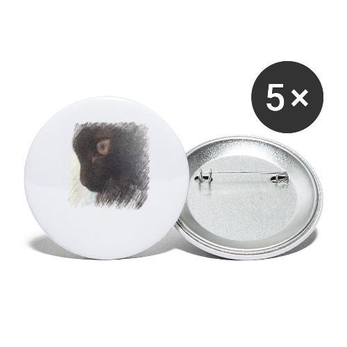 chat - Lot de 5 petits badges (25 mm)