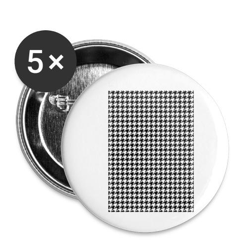 pied de poule v12 final01 - Buttons klein 25 mm (5-pack)