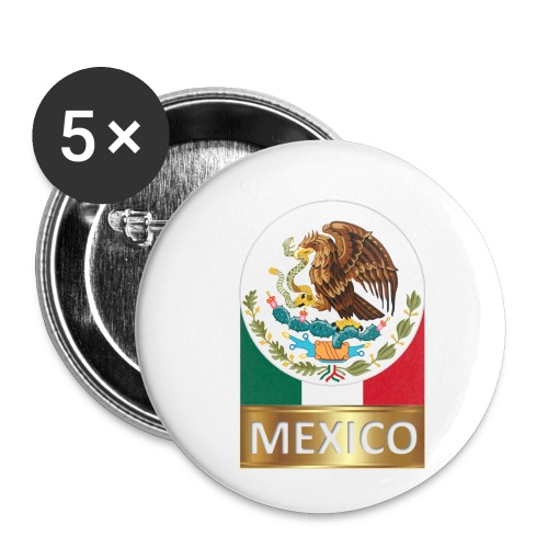 MEXICO1 - Buttons small 1''/25 mm (5-pack)