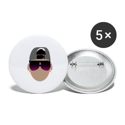 Logo de adhex marca youtube - Paquete de 5 chapas pequeñas (25 mm)