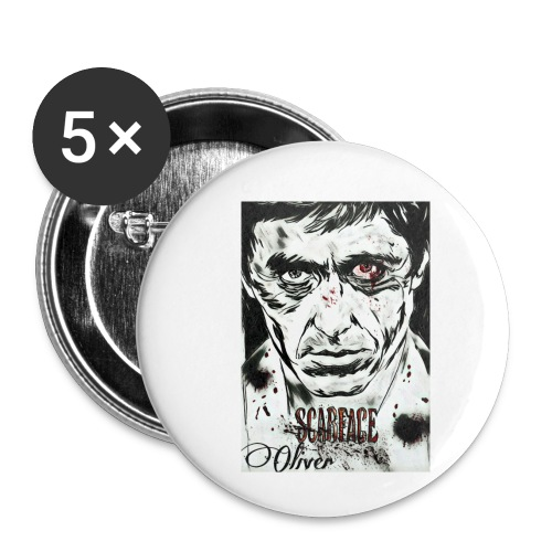 Portrait unique scarface - Lot de 5 petits badges (25 mm)