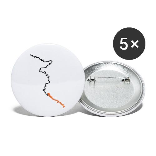 trailrunning rocks - Buttons klein 25 mm (5er Pack)