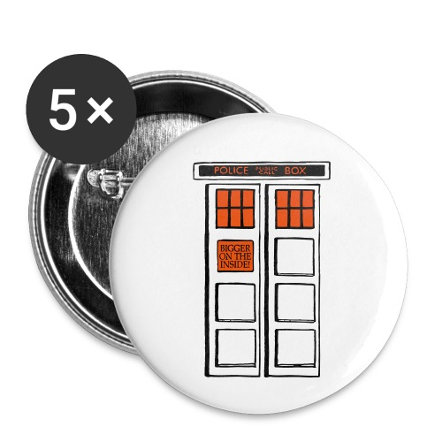 Bigger on the Inside! - Buttons klein 25 mm (5er Pack)