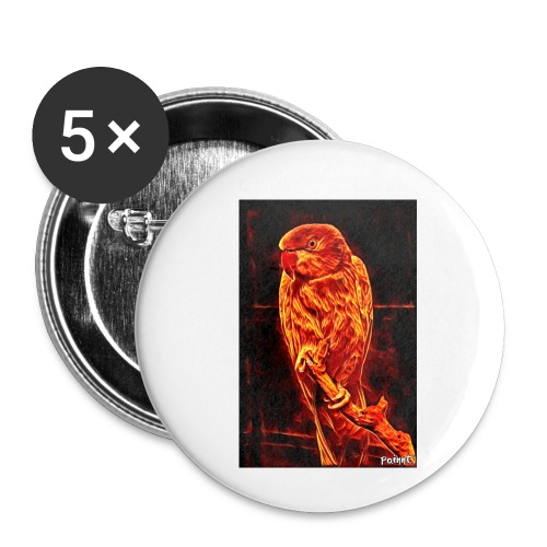 Bird in flames - Rintamerkit pienet 25 mm (5kpl pakkauksessa)