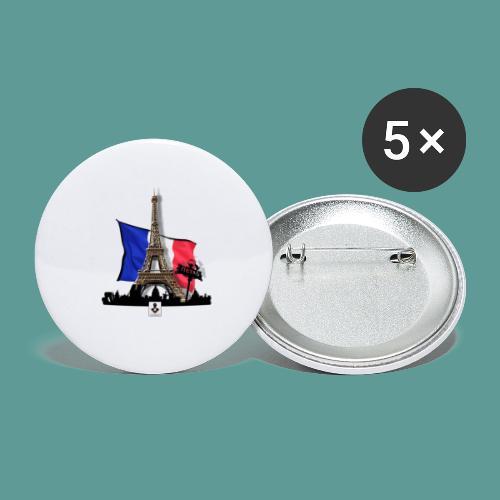 Tee shirt marque mutagene PARIS - Lot de 5 petits badges (25 mm)