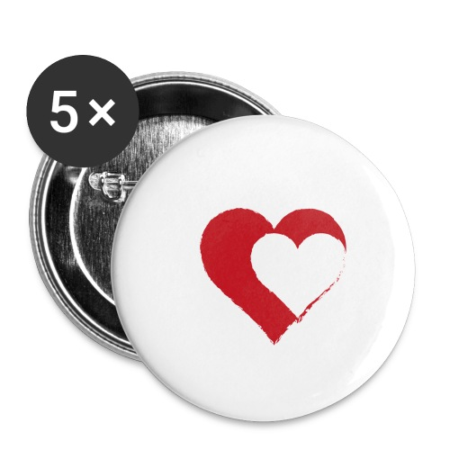 2LOVE - Buttons/Badges lille, 25 mm (5-pack)