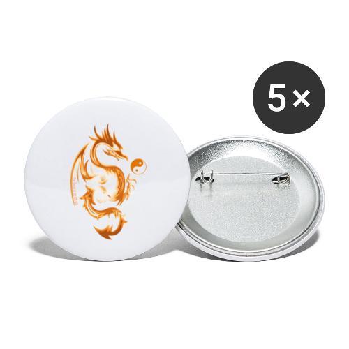 Der Drache spielt mit der Energie des Lebens. - Buttons klein 25 mm (5er Pack)