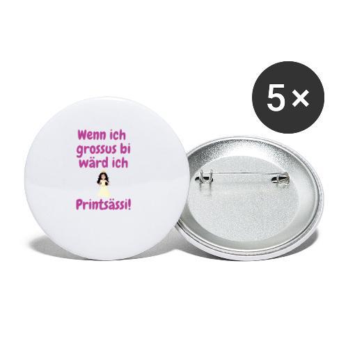 Wenn ich grossu bi wärd ich Printsässi - Buttons klein 25 mm (5er Pack)