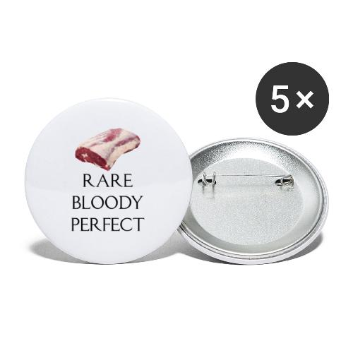 Rare Bloody Perfect , beef for the meat eater - Buttons/Badges lille, 25 mm (5-pack)
