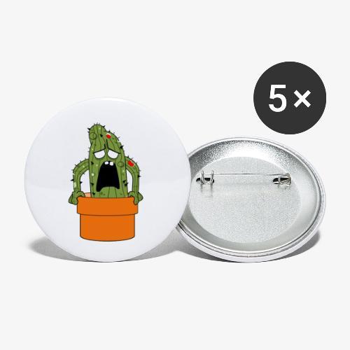 Cactus Zombie - Lot de 5 petits badges (25 mm)