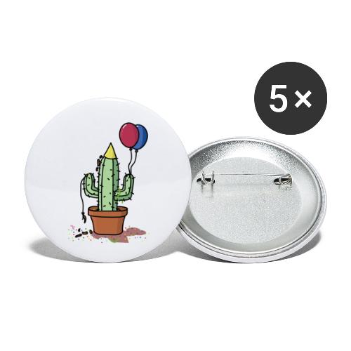 Flowercontest cactus party - Buttons klein 25 mm (5-pack)