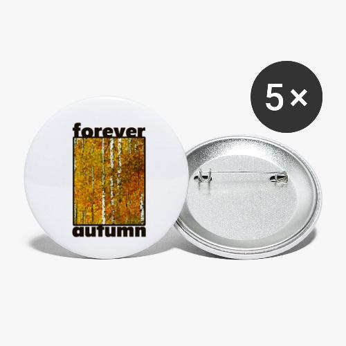 Forever Autumn - Przypinka mała 25 mm (pakiet 5 szt.)
