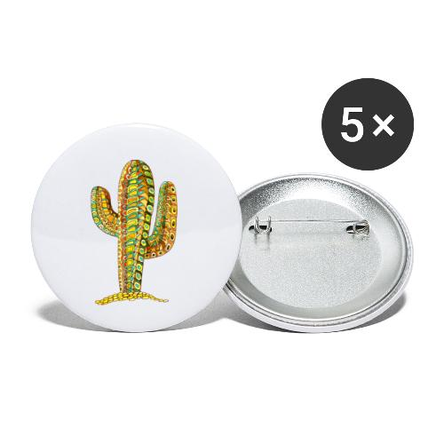 Le cactus - Lot de 5 petits badges (25 mm)