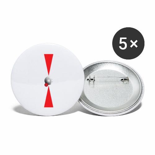 Petanque Minimalisme - Lot de 5 petits badges (25 mm)