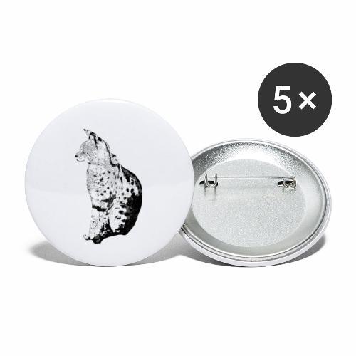 Serval Logo - Buttons klein 25 mm (5er Pack)