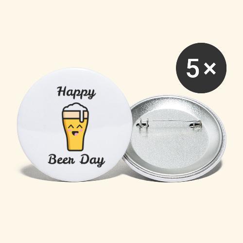 happy beer day - Lot de 5 petits badges (25 mm)