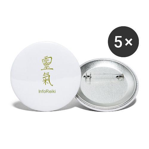 kanji oro - Confezione da 5 spille piccole (25 mm)