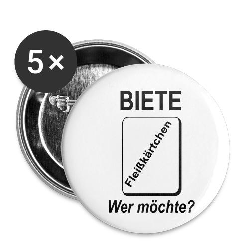 Biete Fleißkärtchen Arbeit Büro Spruch - Buttons klein 25 mm (5er Pack)