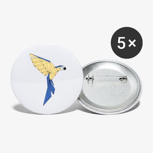 Papagei geometrisch - Buttons klein 25 mm (5er Pack)