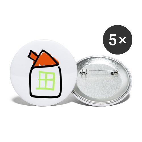 House Line Drawing Pixellamb - Buttons klein 25 mm (5er Pack)