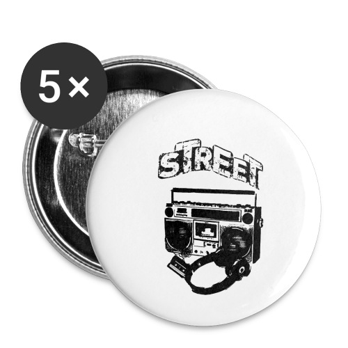 street 1 - Buttons/Badges lille, 25 mm (5-pack)