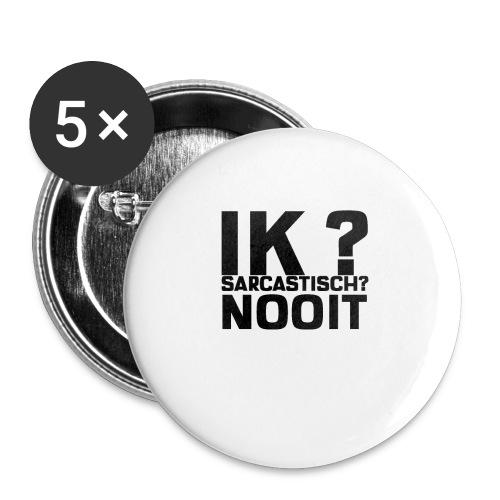 IK SARCASTISCH NOOIT - Buttons klein 25 mm (5-pack)