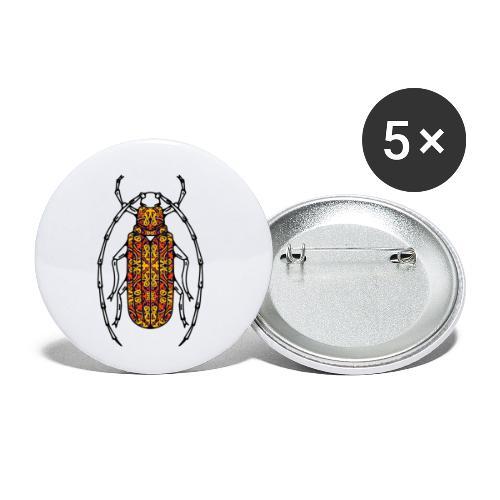 Scarabée - Lot de 5 petits badges (25 mm)