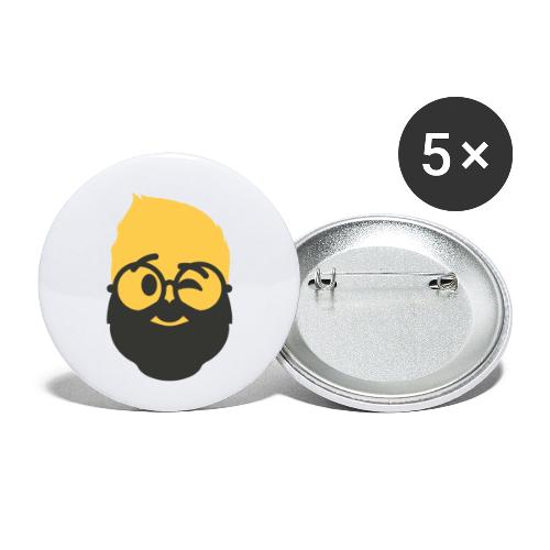 Dougsteins Wink Inverse by Dougsteins - Buttons small 1''/25 mm (5-pack)