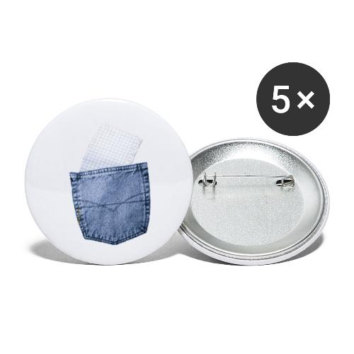 Jeans Baggy by #OneCreativeArts - Buttons klein 25 mm (5er Pack)