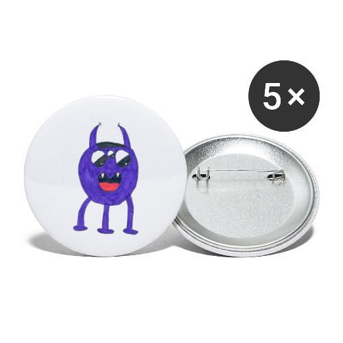 Monster - Små knappar 25 mm (5-pack)