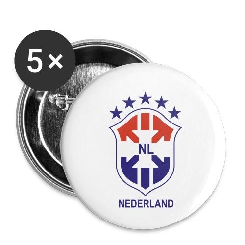 Brasil NL - Buttons klein 25 mm (5-pack)