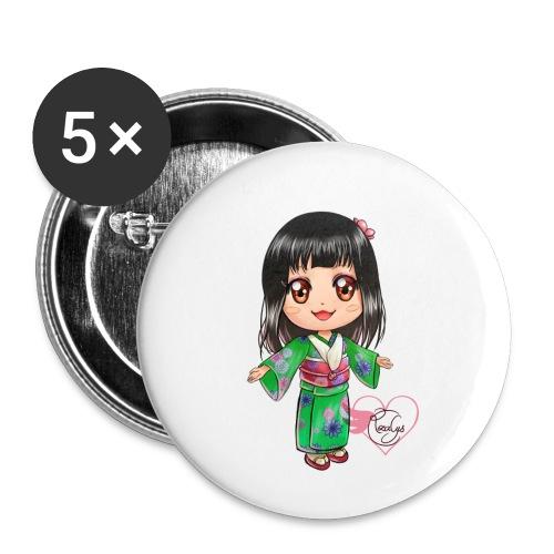 Rosalys crossing - Lot de 5 petits badges (25 mm)