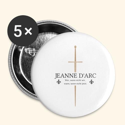 Jeanne d arc dark - Buttons klein 25 mm (5er Pack)