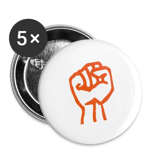 Pugno chiuso giallo - Buttons small 1''/25 mm (5-pack)