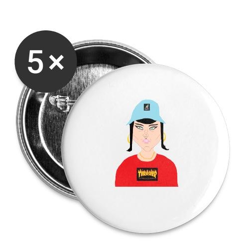 Gabbi Chola - Små knappar 25 mm (5-pack)