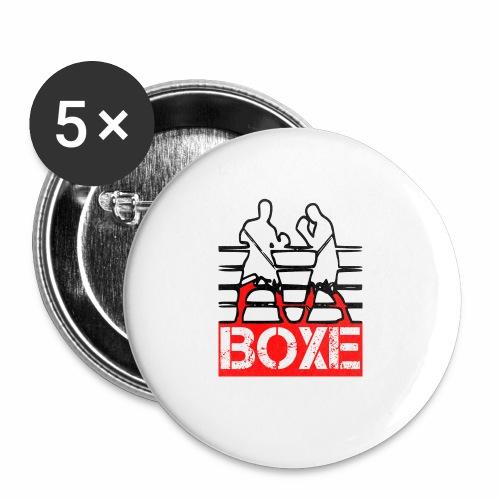 BOXE - Confezione da 5 spille piccole (25 mm)