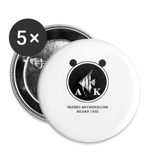 oeakloggamedsvarttext - Små knappar 25 mm (5-pack)