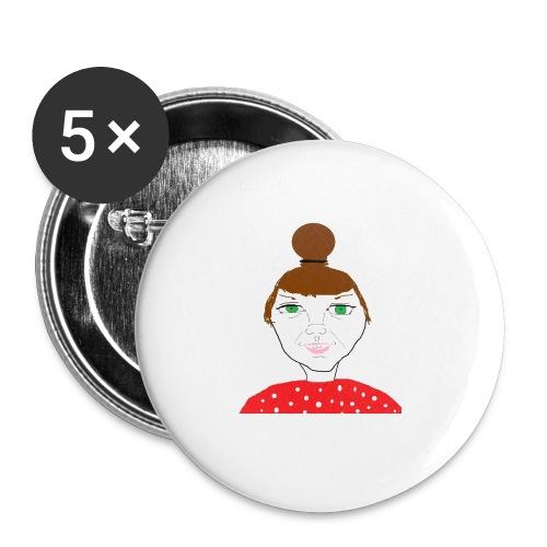 Bonny with a bun - Små knappar 25 mm (5-pack)