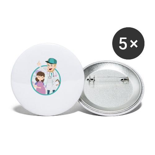 Richtig Schwanger Logo - Buttons klein 25 mm (5er Pack)