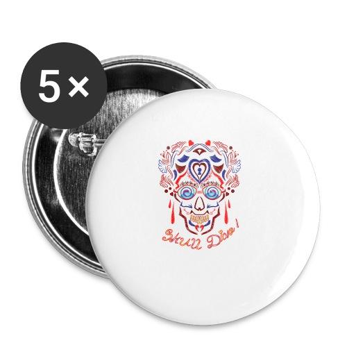 Skull Tattoo Art - Buttons small 1''/25 mm (5-pack)