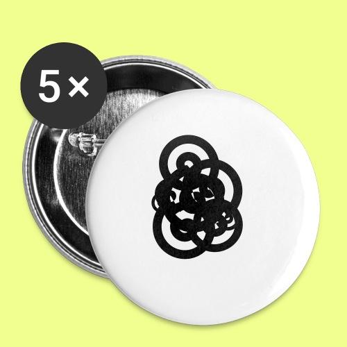 espirales negras - Paquete de 5 chapas pequeñas (25 mm)