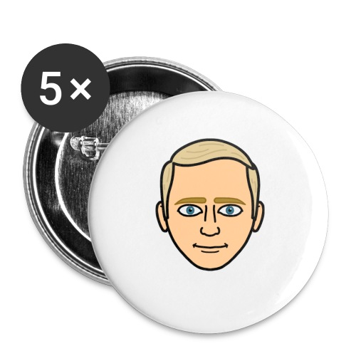 FrederikSørensen Snap Emoji - Buttons/Badges lille, 25 mm (5-pack)