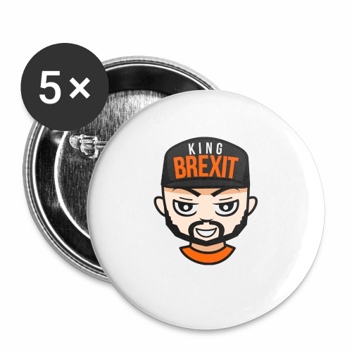 KingB - Buttons small 1''/25 mm (5-pack)