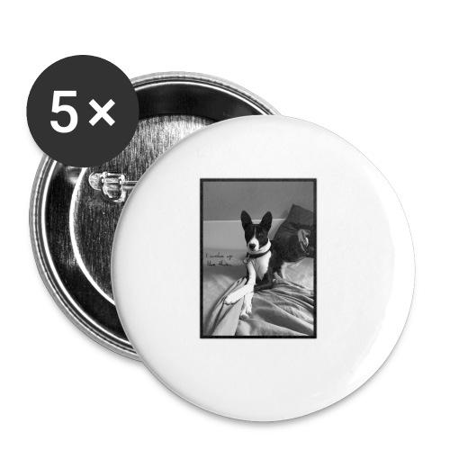 Piratethebasenji - Lot de 5 petits badges (25 mm)