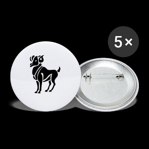STERNZEICHEN WIDDER - Buttons klein 25 mm (5er Pack)